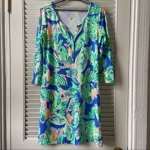 EUC Lilly Pulitzer 3/4 length sleeve dress size S